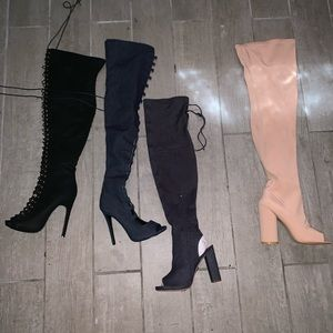 Four pair of never worn boots